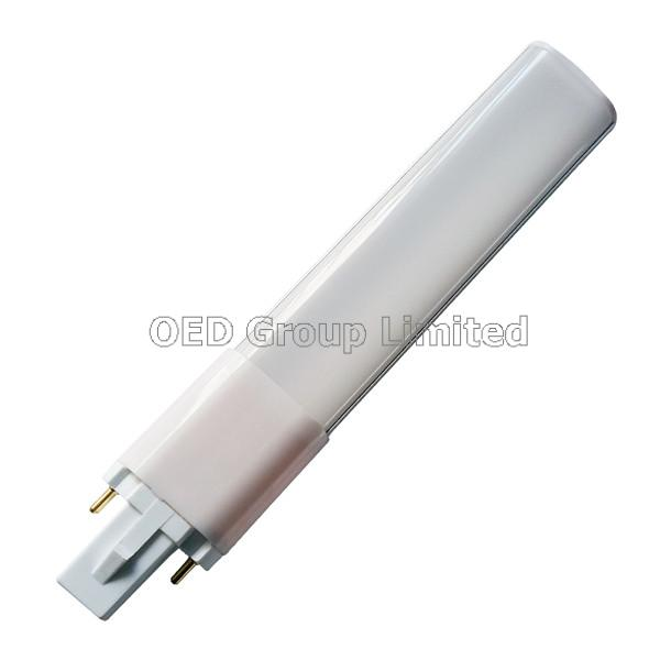 6W G23 GX23 LED Lamps with 2 Pins and Aluminum Back and Milky PC Cover to Replace G23 GX23 Fluoresce