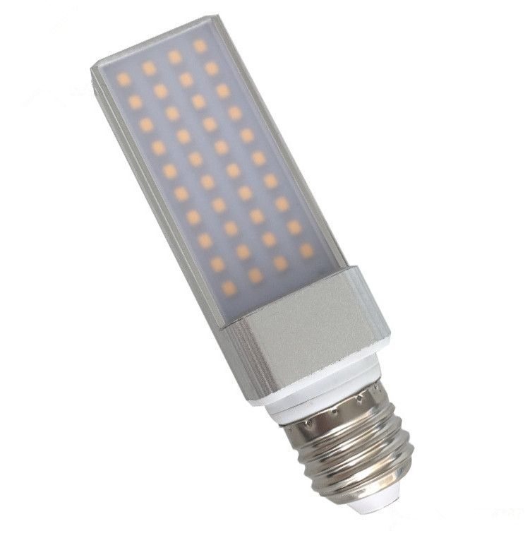 110V 230V Dimmable 6W G24 E27 PL LED Bulb with PC cover or without cover 3 years warranty