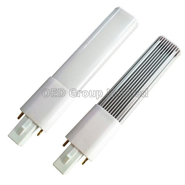 Aluminum and Milky Plastic Cover 12W G23 LED Lamps to Replace 40W-50W G23 Fluorescent Bulbs
