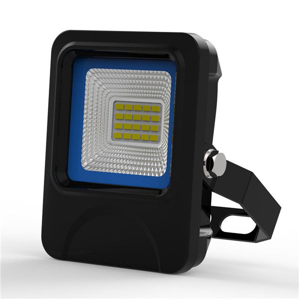 15W SMD LED Flood Light IP66 waterproof textured die-casting Aluminum radiator Black and Blue Case