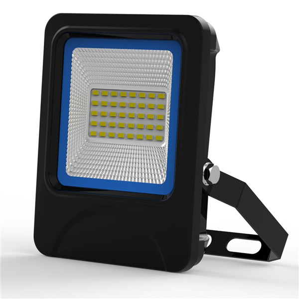20W SMD LED Flood Light IP66 waterproof textured die-casting Aluminum radiator Black and Blue Case