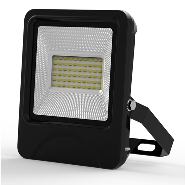 30W SMD LED Floodlight IP66 waterproof textured die-casting Aluminum radiator Black and Blue sides