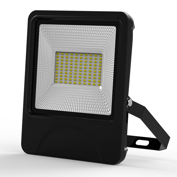 50W SMD LED Construction site led flood light IP66 waterproof textured die-casting Aluminum radiator Black or Blue sides
