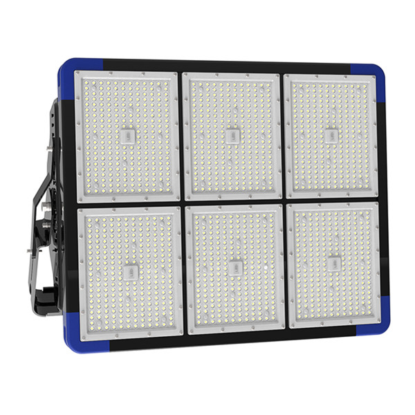 IP66 1080W 85-277V AC 140lm/W for Stadium Sports Field Lighting with Meanwell Driver