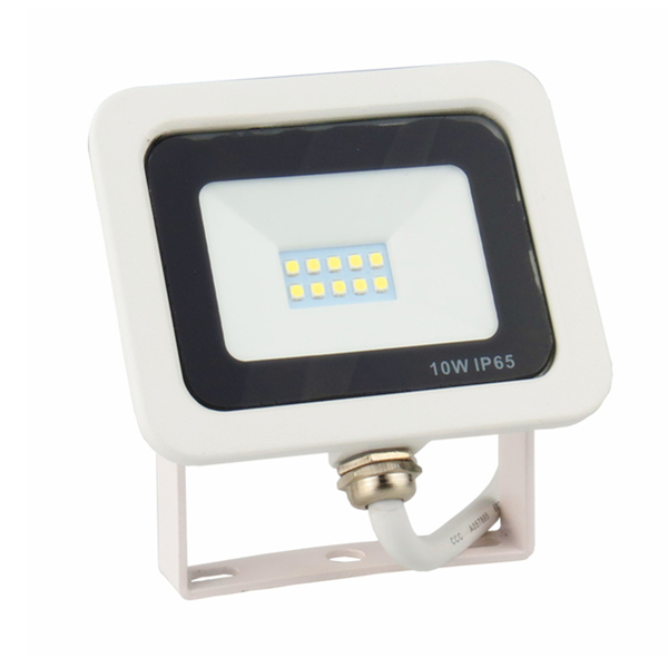 IP65 10W LED Floodlight for Outdoor Lighting with die-casting Aluminum Black or White Body