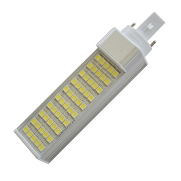 12V 85-265V 10W G24 E27 PL LED Bulb with PC cover or without cover 3 years warranty