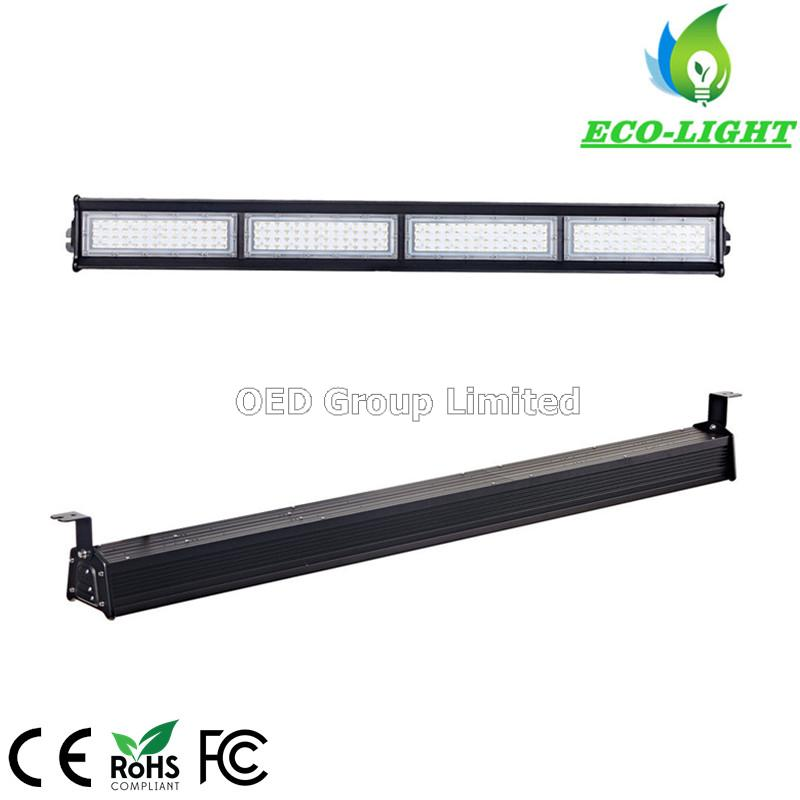 5 years warranty meanwell driver complete black aluminum 250w linear light led high bay