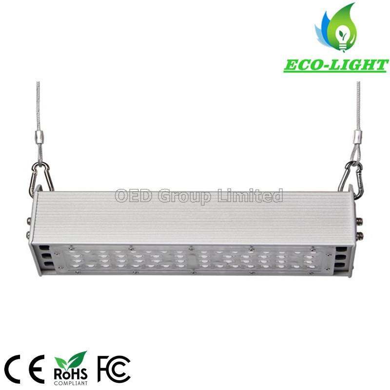 5 years warranty black aluminum meanwell driver 3030SMD 100w led linear high bay light