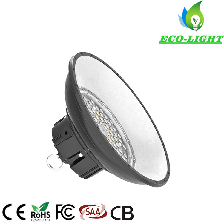 New type factory warehouse gym lighting 100W UFO LED high bay light fixtures 140LM/W