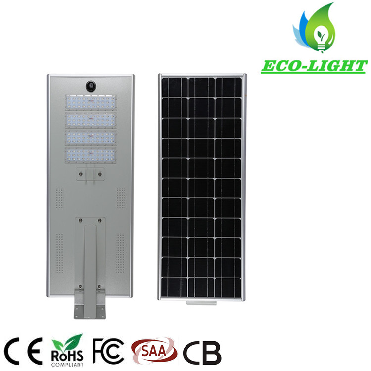Hot sale outdoor waterproof 80W garden lighting LED integrated solar street light