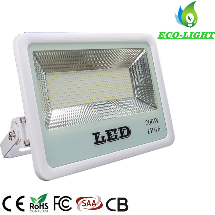 Factory Direct 200W Outdoor Waterproof Ultra-Thin Energy-Saving SMD LED Flood light