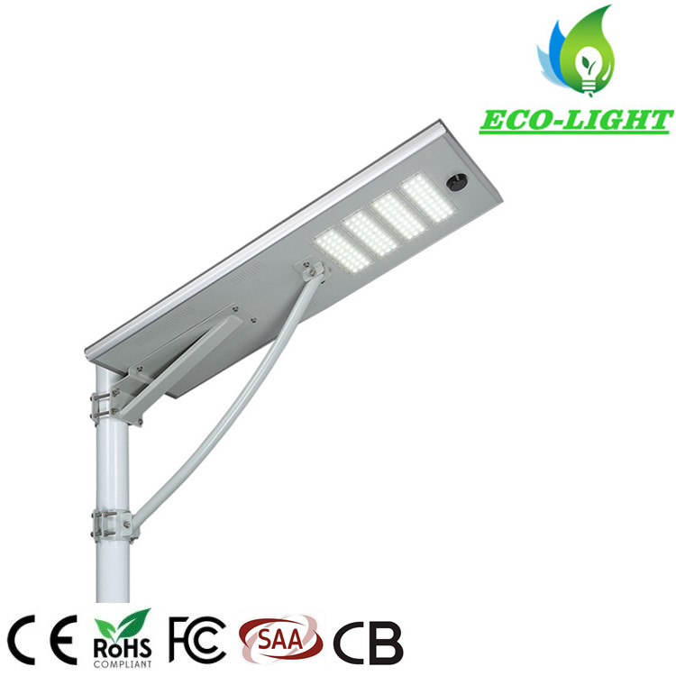 80W IP65 high lumen integrated solar LED road lamp