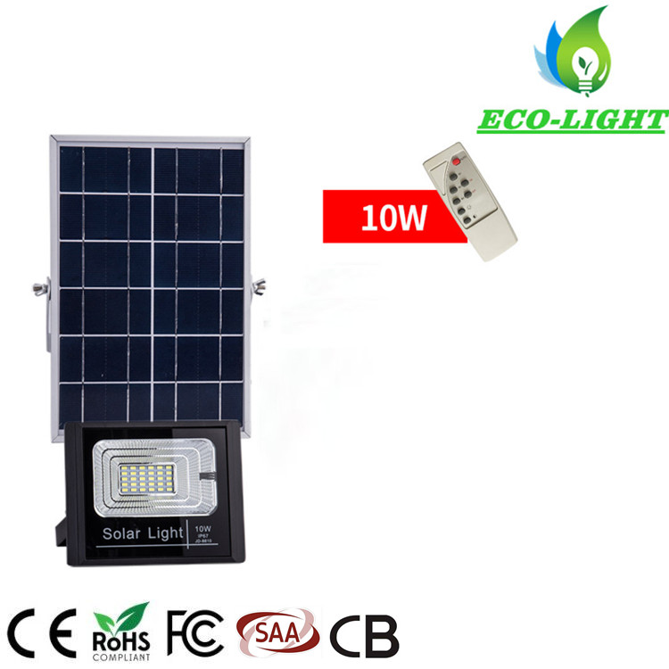 10w solar system home lamp with remote control LED landscape flood light