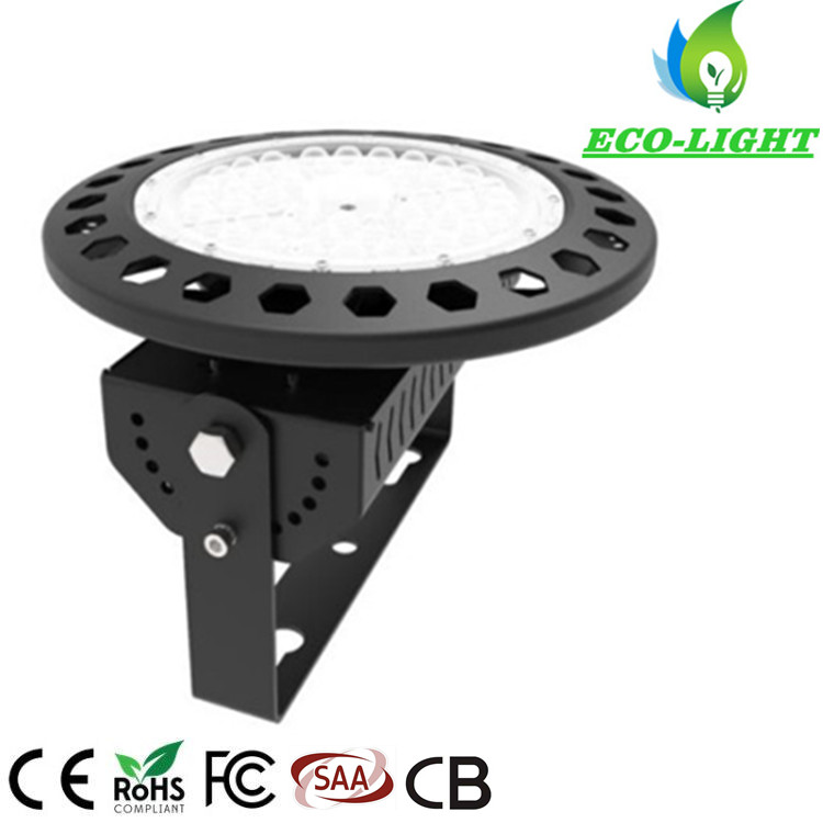 Industrial factory high bay lighting SMD3030 round 150w LED UFO highbay light with 3000k 4000k 6000k