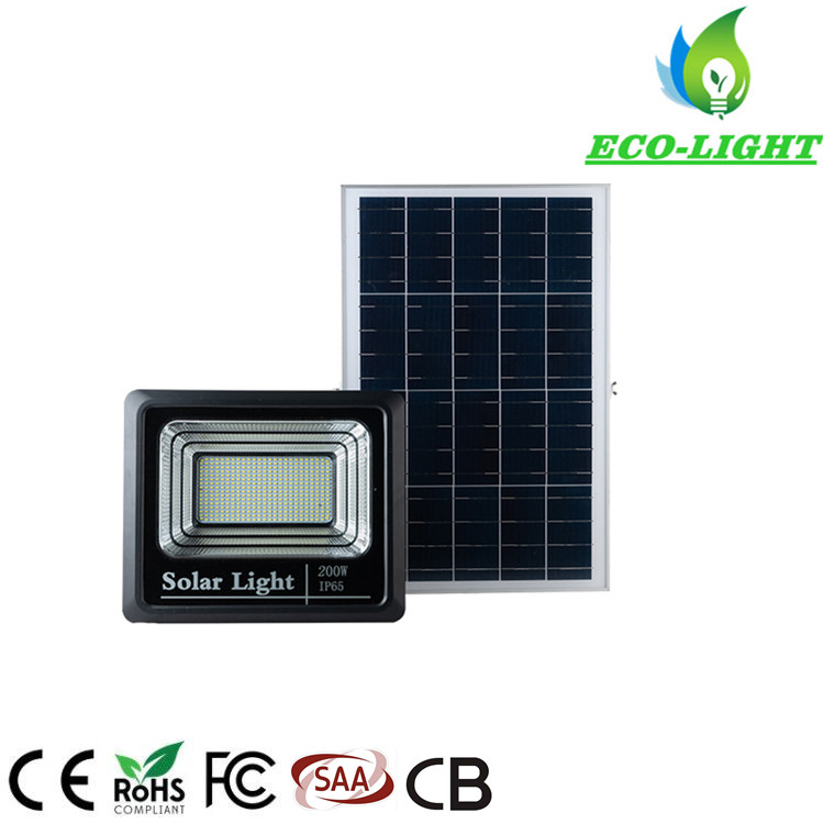 200 Watts with Remote Control Waterproof Garden LED Solar Flood Lights