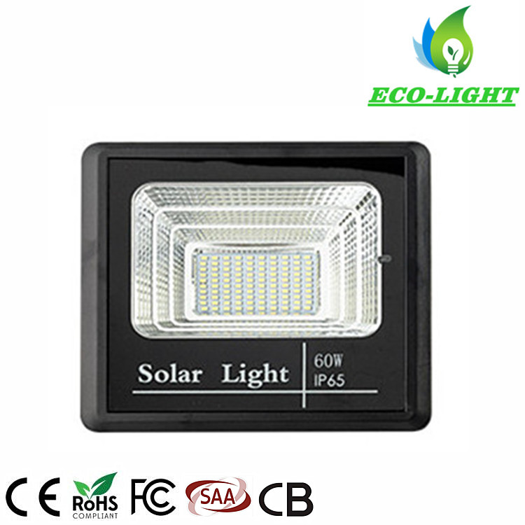 Outdoor solar power LED light 60 watt flood light for road garden lighting
