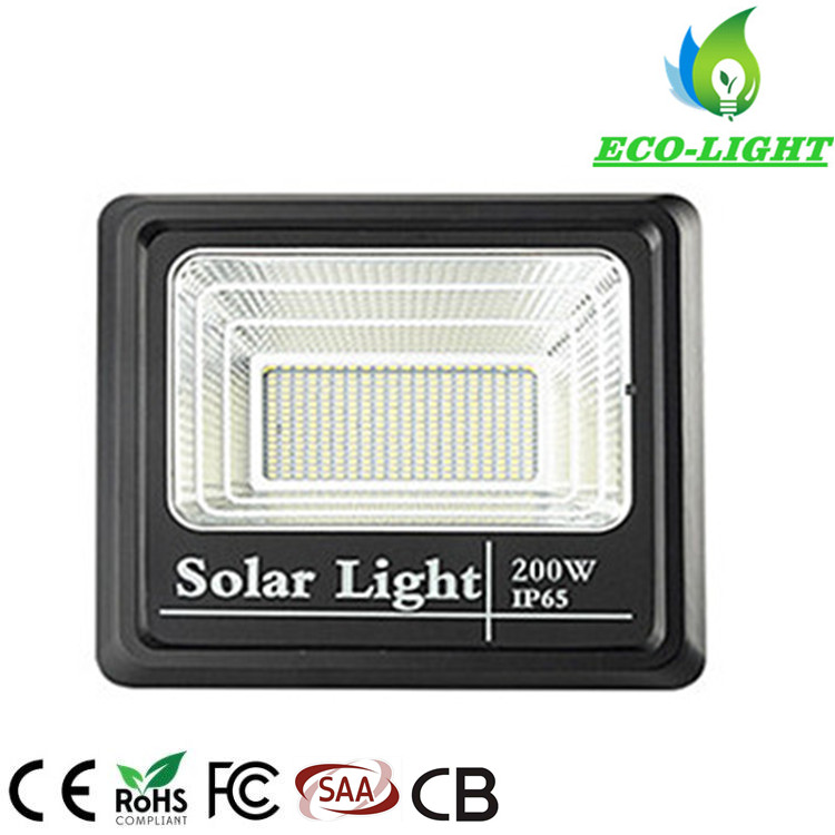 Manufacturer Supply High Quality Outdoor LED Lighting 200W Solar Power Floodlight