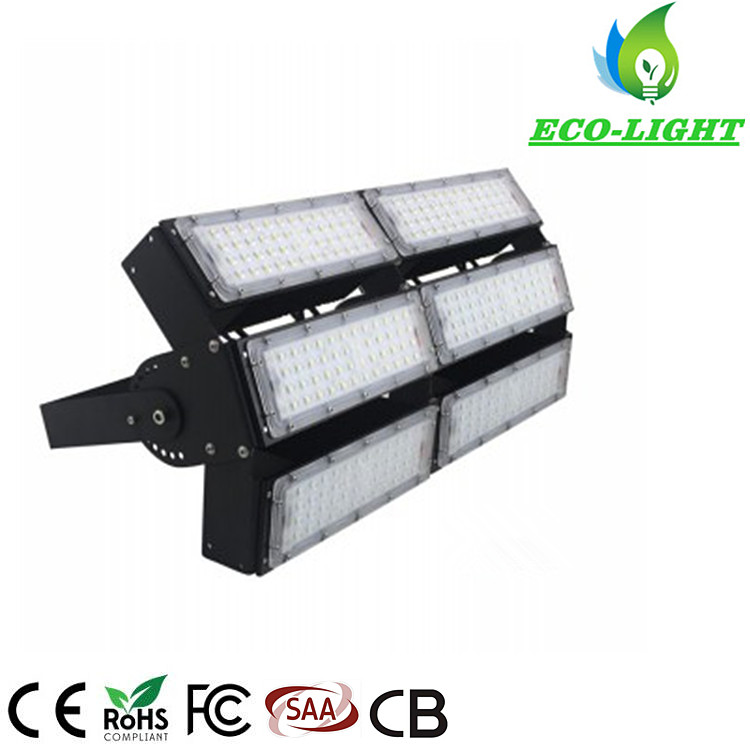 300W Outdoor SMD LED Modules Style Flood Lights with Adjustable Angle for Basketball Court