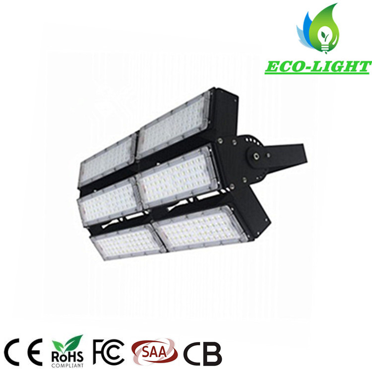 Ce RoHS IP65 300W SMD Module Adjustable Angle LED Flood Light for Sports Stadium Used