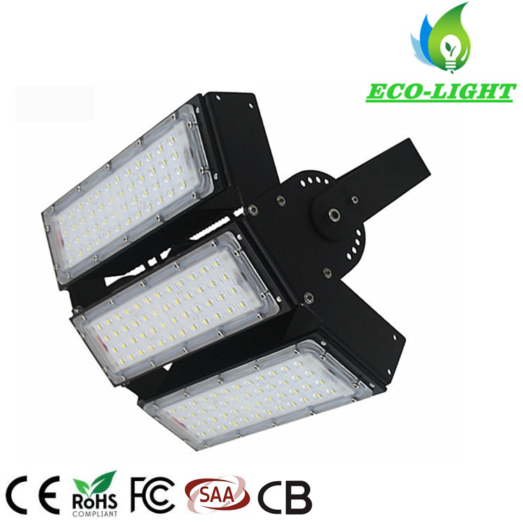 High Power 150W IP65 Waterproof Adjustable Angle SMD Module LED Tunnel Light Flood Lamp