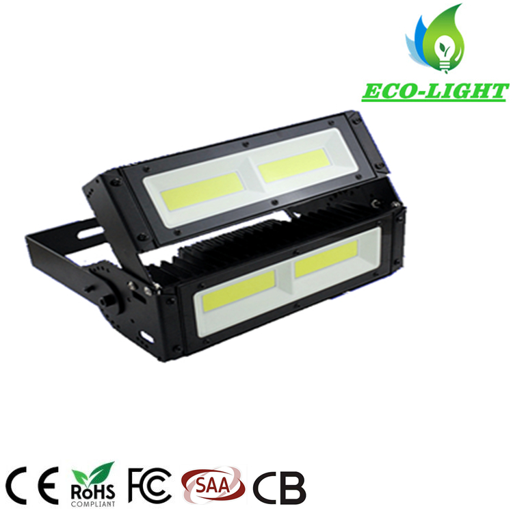 Adjustable Beam Angle IP67 Module COB LED Floodlight 100W for Sport Field Lighting