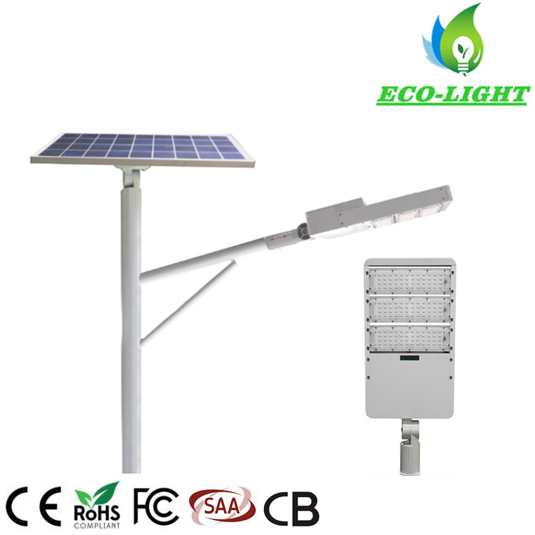 Energy Saving IP65 120 Watt Module Split LED Solar Street Light for Urban Road Lighting